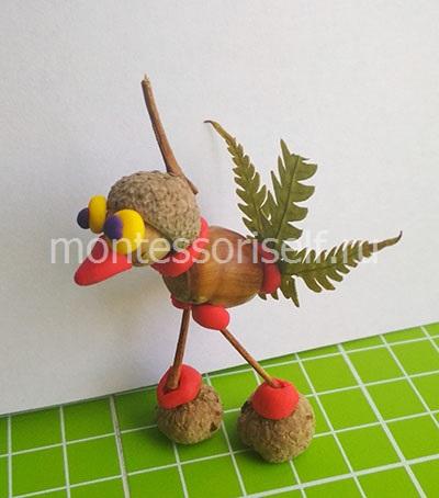 Птичка из природных материалов