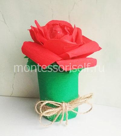 Цветок из бумаги для мамы 1