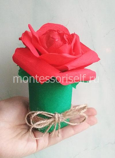 Цветок из бумаги для мамы 2