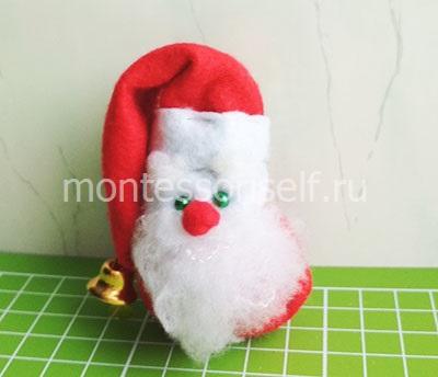 Дед мороз игрушка своими руками из фетра