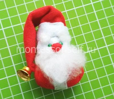 Новогодний Дед Мороз из фетра