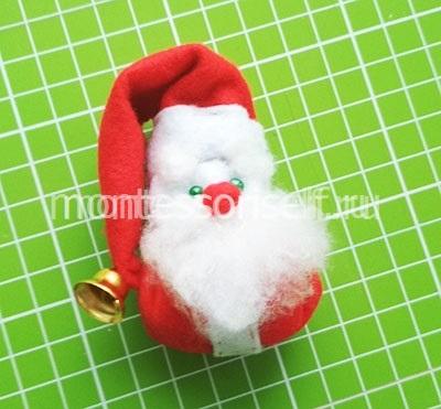 Игрушка из фетра Дед Мороз