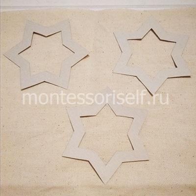 Располагаем звезды на ткани
