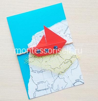 Оригами из бумаги кораблик