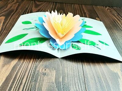 Открытка с объемным цветком