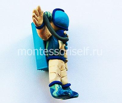 Космонавт из пластилина 1