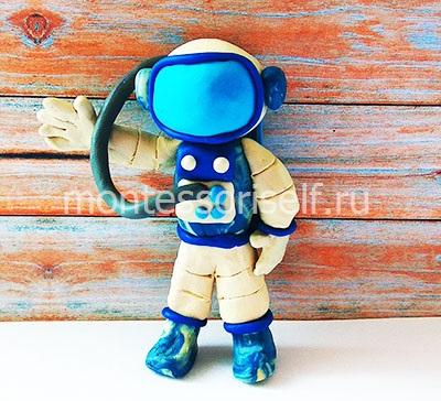 Космонавт из пластилина