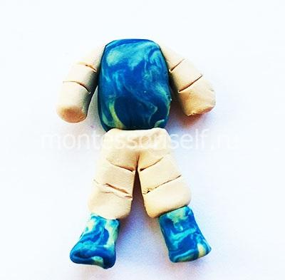 Туловище, руки и ноги космонавта