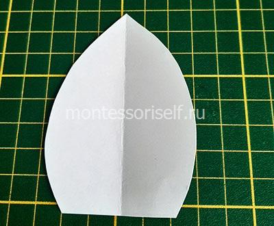Выкройка для тюльпана из бумаги