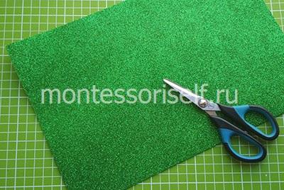 Зеленый фоамиран