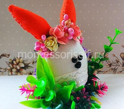 Пасхальный кролик из ткани 2
