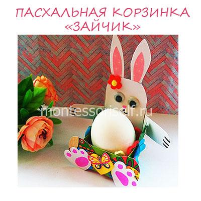 Коробочка для яйца – пасхальный зайчик: поделка на Пасху