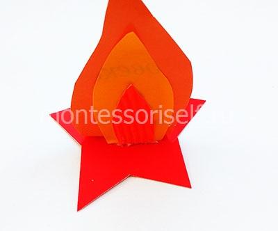 Звезда с пламенем