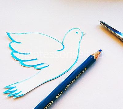 Рисуем и вырезаем голубя