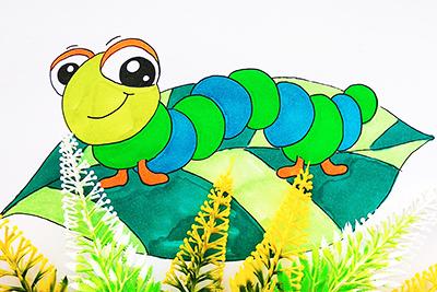 Рисунок гусеница 2
