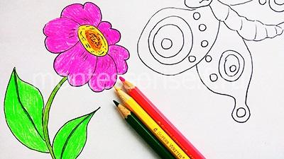 Раскрашиваем цветок