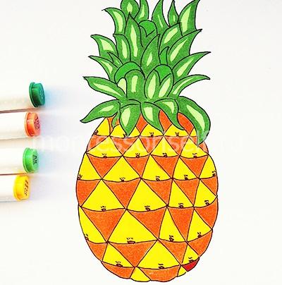 Рисунок ананас своими руками