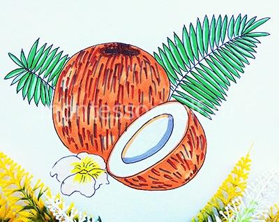 """Рисунок """"кокос"""" своими руками"""