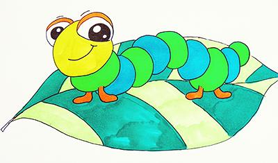 Рисунок гусеница 1