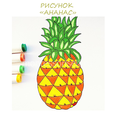 """Как нарисовать ананас: мастер-класс """"рисунок ананас"""" своими руками"""