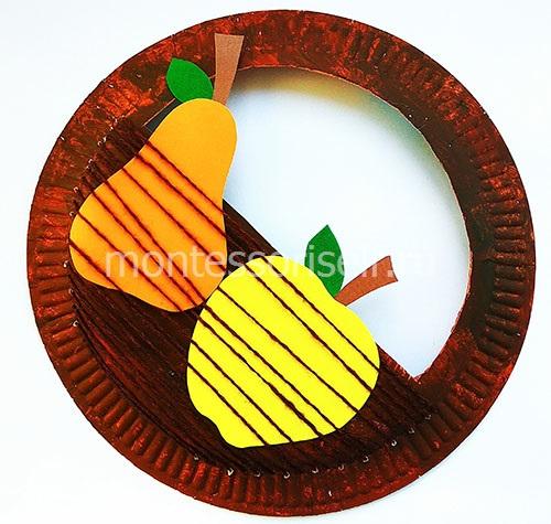 Корзинка из бумажной тарелки