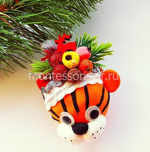 """Новогодняя поделка """"Тигр"""""""